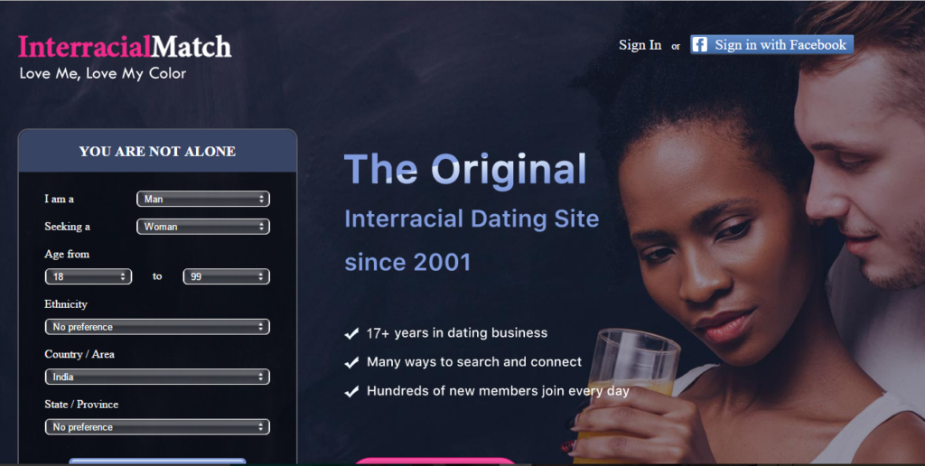 Legitimate online interracial dating sites